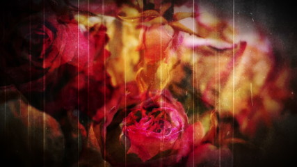 Dead Roses Grunge abstract horror