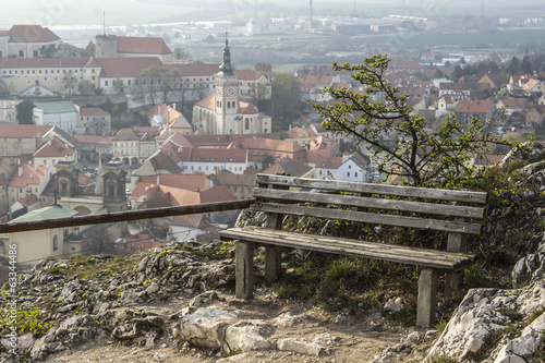 Bench and view, Mikulov - Czech Republic