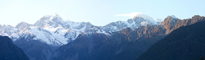 Nice panoramic view in autumn at mount Cook national park