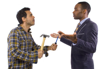 Blue collar worker vs white collar professional