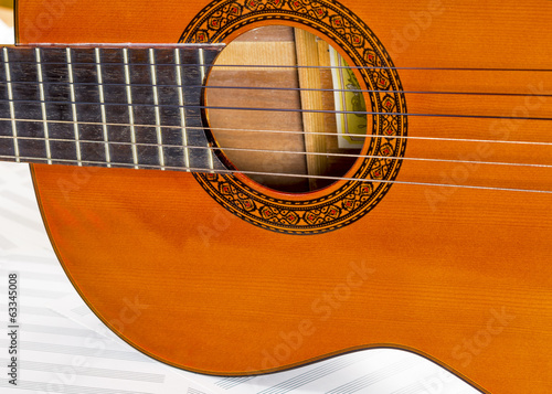 Body of a six string clasical guitar