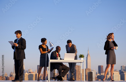 Outdoor Business Meeting in New York City