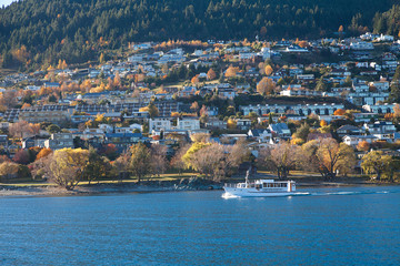 City view cruise sightseeing along Wakatipu lake Queenstown, NZ