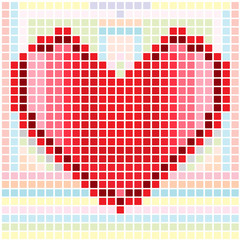 Heart mosaic pattern