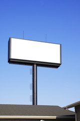 Blank billboard with space for your advertisement