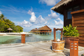 Scenery of resort island Maldives