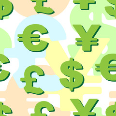 background business: monetary symbols