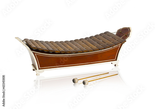 Thai classical wooden xylophone music instrument