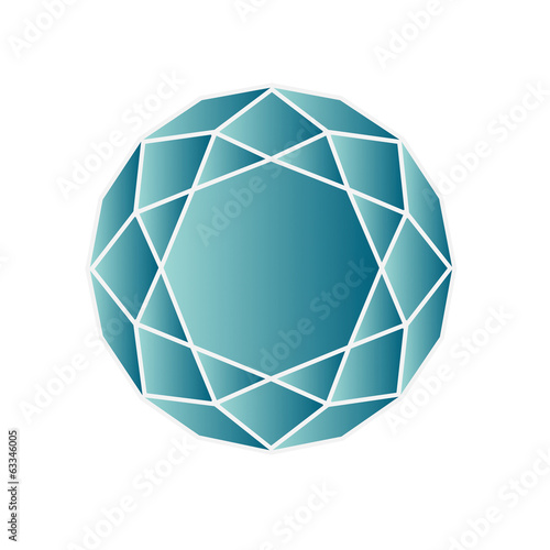 Blue Topaz - vector illustration