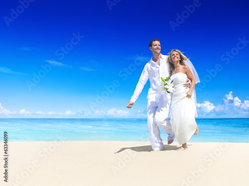 Couple Getting Marriage on the Beach