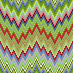 Color Abstract Retro Zigzag Vector Background