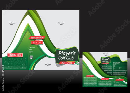 tri Fold Golf Brochure Design