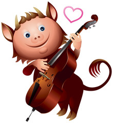 Imp double bass love heart song