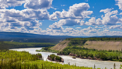 Five Finger Rapids landscape Yukon River Canada