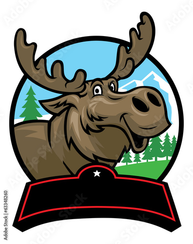 cartoon moose mascot