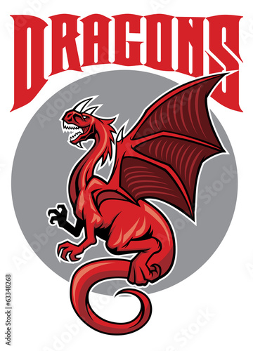 flying drgon mascot