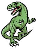 Raptor dinosaur mascot poster
