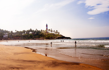 Lighthouse on Kovalam Beach