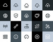 Wireless network icons. Flat