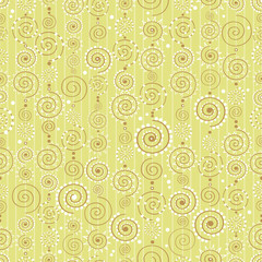 Vector background with decorative curls