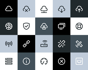 Wireless network icons. Flat