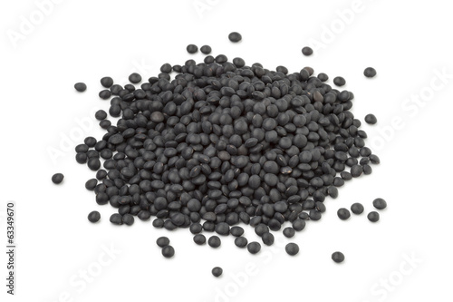 Heap of Beluga lentils