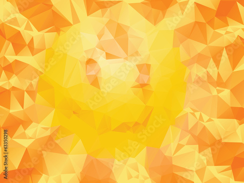 Yellow Polygonal Background