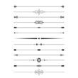 Divider set. Calligraphic design elements. - 63350870