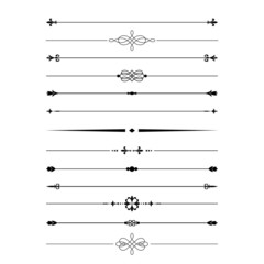 Divider set. Calligraphic design elements.