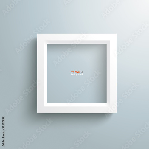 White Frame Silver Background
