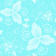 Floral endless background with decorative elements