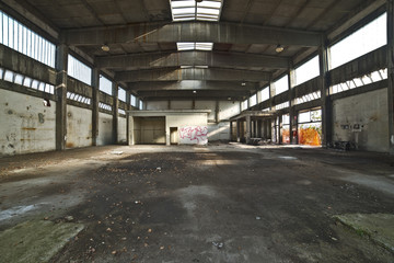 Shed of an old abandoned factory