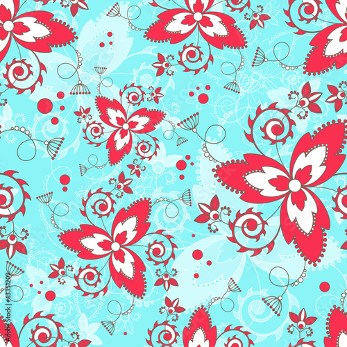 Vector endless background with flowers