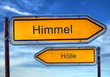 canvas print picture - Strassenschild 1 - Himmel