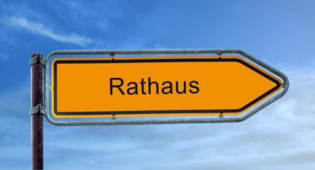 Strassenschild 8 - Rathaus