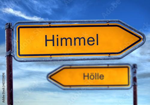 canvas print picture Strassenschild 1 - Himmel