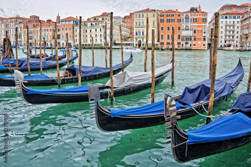 Venice gondolas on the Grand canal