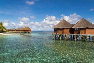 Water villas and lagoon Maldives