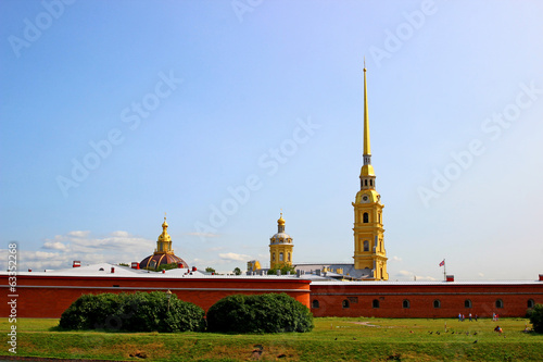Spire of Peter and Paul Fortress in St. Petersburg (Russia)