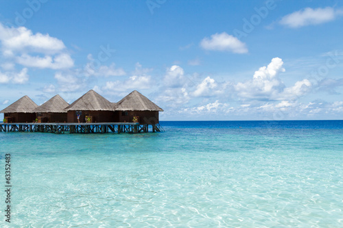 Water villas and shallow Maldives