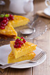 Cornmeal cake with berries