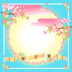 桜 お祝い 色紙