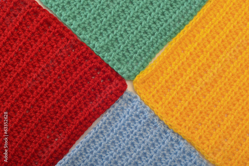 multicolored knitted