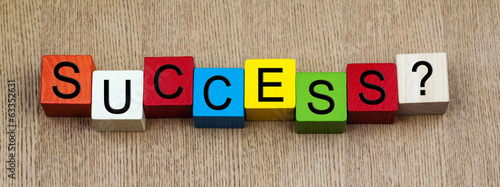 Success sign for business or education, in panorama.