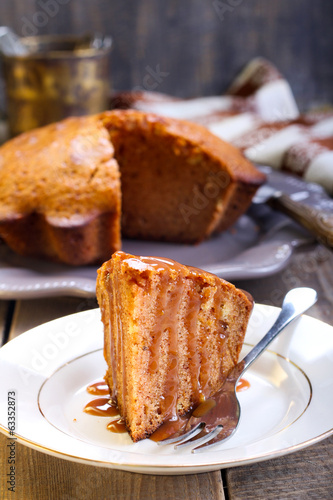 Slice of ginger cake