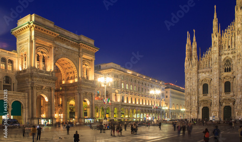 obraz PCV Piazza Duomo, Mediolan