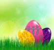 spring background with Easter egg