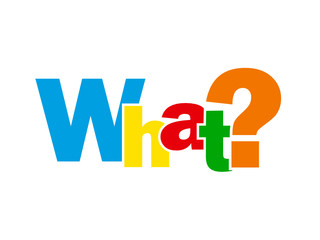 """""""WHAT?"""" Letter Collage (questions help support information how)"""