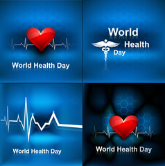 World health day collection set background concept with medical