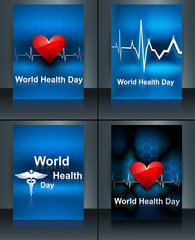 World health day beautiful presentation brochure collection set